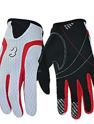 Недорогие -BOODUN Перчатки для велосипедистов Лыжные перчатки Горные велосипеды Сенсорный экран Дышащий Противозаносный Защитный Перчатки для тач-скрина Спортивные перчатки Лайкра Белый для Взрослые