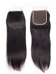 billige -1 Bundle Brasiliansk hår Lige Remy Menneskehår Menneskehår, Bølget Bundle Hair Hårforlængelse af menneskehår 8-20inch Naturlig Farve Menneskehår Vævninger Nyfødt Vandfald Nuttet Menneskehår Extensions