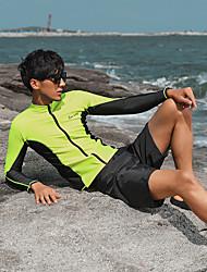 رخيصةأون -رجالي بدلات الغطس العميق حماية من الأشعة فوق البنفسجية خفيف جدا (UL) سريع جاف تيريليني كم طويل ملابس السباحة ملابس الشاطئ سترات للغوص بقع سباحة غوص / قابل للبسط