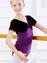 ราคาถูก -ชุดเต้นสำหรับเด็ก / ชุดเต้นบัลเล่ย์ ชุดแนบเนื้อสำหรับการเต้น เด็กผู้หญิง การฝึกอบรม / Performance ฝ้าย ข้อต่อ แขนสั้น ธรรมชาติ ชุดแนบเนื้อสำหรับการเต้น