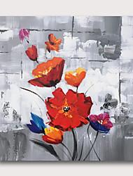billige -håndmalt strukket oljemaleri lerret klar til å henge abstrakt stil materiale høy mengde røde roser flowres grå