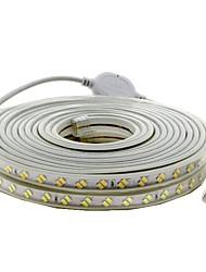 Недорогие -5 метров Гибкие светодиодные ленты 600 светодиоды 5730 SMD Тёплый белый / Холодный белый Водонепроницаемый / Можно резать / Декоративная 220-240 V 1шт
