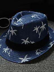 halpa -Mélange Lin / Coton hatut / Headpiece kanssa Kuviointi / printti 1 Kappale Arki-asut / ulko- Päähine