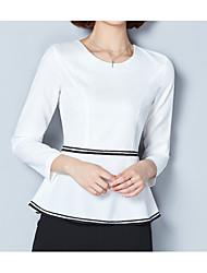hesapli -Kadın's Bluz Solid Beyaz L