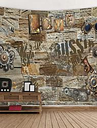 abordables -Tema las Vegas Decoración de la pared 100% Poliéster Modern Arte de la pared, Tapices de pared Decoración