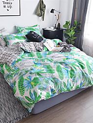 billige -Sengesett Blomstret Polyester Trykket 4 delerBedding Sets