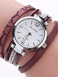 Недорогие -Жен. Часы-браслет Цирконий На каждый день Мода Черный Белый Синий Искусственная кожа Китайский Кварцевый Красный Серый Светло-коричневый Повседневные часы Имитация Алмазный 1 ед. Аналоговый