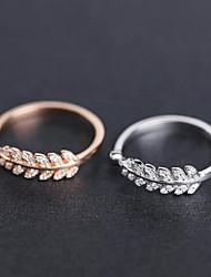 preiswerte -Damen Weiß Bandring Ring Knöchel-Ring Platiert Rose Gold überzogen Diamantimitate Stilvoll Einfach Europäisch Koreanisch Elegant Moderinge Schmuck Silber / Rotgold Für Hochzeit Geschenk Alltag Arbeit