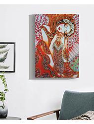 billige -Mennesker / Abstrakt Veggdekor Ikke Vevet / poly uretan Dyr / Europeisk Veggkunst, Diamantmaleri Dekorasjon