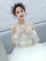 preiswerte -Netz Handgelenk-Länge Handschuh Perlenbesetzt Mit Perlenstickerei