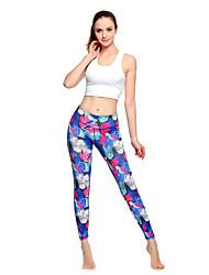 abordables -Femme Pantalon de yoga Bleu Des sports Mode Collants Course / Running Fitness Entraînement de gym Tenues de Sport Poids Léger Respirable Evacuation de l'humidité Séchage rapide Haute élasticité Mince
