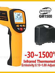 Недорогие -Цифровой инфракрасный термометр Benetech бесконтактный регулятор температуры электронный gm1500 для внутреннего и наружного ИК лазерный термометр
