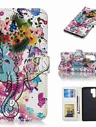 billiga -fodral Till Huawei Huawei P30 Pro / P10 Plus Plånbok / Korthållare / Lucka Fodral Djur / Blomma Hårt PU läder för Huawei P30 / Huawei P30 Pro / P10 Plus