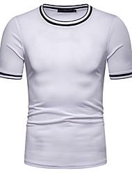 abordables -Hombre Camiseta Un Color Azul Marino L