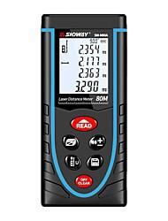 ieftine -sndway sw-m80a 80 m metru de măsurare a rezistenței laser cu ajutorul bateriei / handheld / ușor de utilizat pentru instalarea mobilei / pentru măsurarea inteligentă a locuinței / pentru măsurarea
