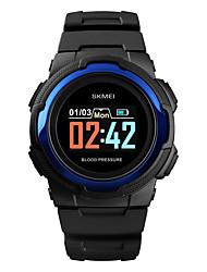 Недорогие -SKMEI Муж. Армейские часы Цифровой силиконовый Черный / Зеленый 30 m Армия Bluetooth Smart Цифровой На открытом воздухе Мода - Черный Зеленый Синий Один год Срок службы батареи