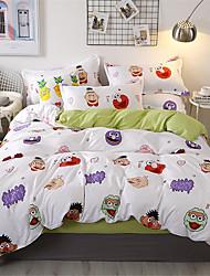 cheap -Duvet Cover Sets Cartoon Polyster Printed 4 PieceBedding Sets