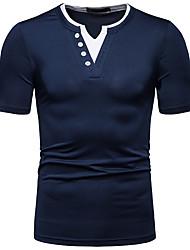abordables -Hombre Retazos Camiseta Bloques Blanco L