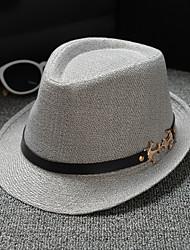 halpa -Mélange Lin / Coton hatut / Headpiece kanssa Yksivärinen 1 Kappale Arki-asut / ulko- Päähine