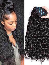 voordelige -3 bundels Maleisisch haar Watergolf Mensen Remy Haar Menselijk haar weeft Bundle Hair Extentions van mensenhaar 8-28 inch(es) Natuurlijke Kleur Menselijk haar weeft Modieus Design Geschenk nieuwe