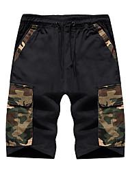 tanie -Męskie Podstawowy Szorty Spodnie - Solidne kolory Czarny