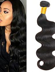 economico -6 pacchi Brasiliano Ondulato naturale capelli naturali Remy Accessori per capelli Ciocche a onde capelli veri Bundle di capelli 8-28 pollice Colore Naturale Tessiture capelli umani Soffice Facile da