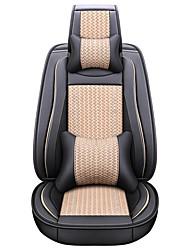 Недорогие -бизнес передние задние универсальные автомобильные чехлы на сиденья и подголовники для ремней