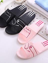 abordables -Pantoufles pour Femme / Pantoufles pour Homme Maison chaussons Simple PVC Imprimé animal Chaussures