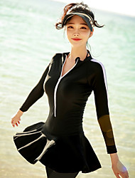 halpa -JIAAO Naisten Skin-tyyppinen märkäpuku Sukelluspuvut Hengittävä Nopea kuivuminen Pitkähihainen Etuvetoketju - Uinti Sukellus Lainelautailu Yhtenäinen Kesä / Erittäin elastinen