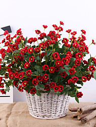 abordables -Fleurs artificielles 1 Une succursale Classique Européen Style Simple Roses Fleurs éternelles Fleur de Table