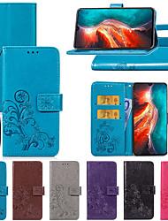 Недорогие -Кейс для Назначение Huawei Huawei P20 / Huawei P20 Pro / Huawei P20 lite Бумажник для карт / со стендом / Магнитный Чехол Цветы Твердый Кожа PU / P10 Plus / P10 Lite / P10