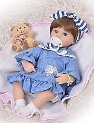 abordables -FeelWind Muñecas reborn Bebés Niñas 18 pulgada Silicona - Niños / Adolescentes Adorable Encantador Kid de Unisex Juguet Regalo