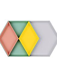 billige -Oppbevaring Organisasjon Smykkesamling Plast Rektangelform / Uregelmessig form / diamant form Bærbar / Kreativ / Flerlags