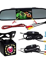 Недорогие -BYNCG W5 4.3 дюймовый TFT-LCD 480TVL 480 ТВ линий 1/4 дюйма CMOS OV7950 Беспроводное 120° 4.3 дюймовый Камера заднего вида / Автомобильный реверсивный монитор / Дисплей заголовка
