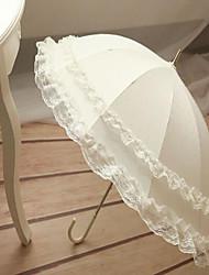 ราคาถูก -ร่ม Terylene ลูกไม้ งานแต่งงาน
