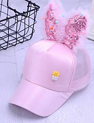 お買い得  -男女兼用 ベーシック ポリエステル,ソリッド 日よけ帽 ホワイト ブラック ピンク