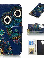 billiga -fodral Till Huawei Huawei P30 Pro / P10 Plus Plånbok / Korthållare / Lucka Fodral Djur Hårt PU läder för Huawei P30 / Huawei P30 Pro / P10 Plus
