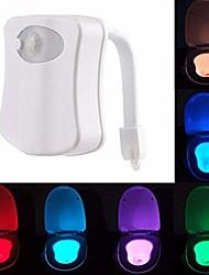 Недорогие -1 шт. Из светодиодов с изменением цвета батарейки с питанием от батарей с активированным движением туалет ночной свет ванная комната туалет 5 В