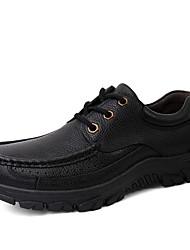 levne -Pánské Společenské boty Nappa Leather Jaro / Podzim Vintage / Na běžné nošení Oxfordské Neklouzavá Černá / Hnědá