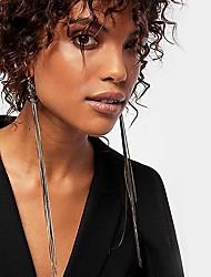 cheap -Women's Multicolor Chandelier Drop Earrings Earrings Weave Vertical / Gold bar European Initial Jewelry Black / Purple / Gold / White For Daily 1 Pair
