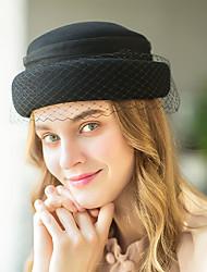 رخيصةأون -ورأى الصوف قبعات مع لون واحد 1 قطعة بلمونت ستيكس / كنتاكي ديربي خوذة