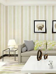 Χαμηλού Κόστους -ταπετσαρία Nonwoven Κάλυψης τοίχων - κόλλα που απαιτείται Ριγέ