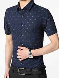 cheap -Men's Shirt - Polka Dot Blue XL