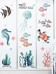 Недорогие -мультфильм подводный мир наклейки детская комната спальня отделка стен детский сад морской наклейки на стенку рыбки ins наклейки