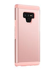olcso -BENTOBEN Case Kompatibilitás Samsung Galaxy Note 9 Ütésálló Fekete tok Egyszínű Kemény TPU / PC mert Note 9