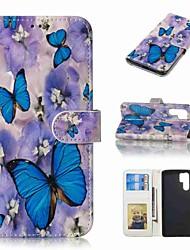 abordables -Coque Pour Huawei Huawei P30 Pro / P10 Plus Portefeuille / Porte Carte / Clapet Coque Intégrale Papillon Dur faux cuir pour Huawei P30 / Huawei P30 Pro / P10 Plus