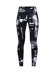 abordables -Femme Pantalon de yoga Noir Des sports Mode Collants Course / Running Fitness Entraînement de gym Tenues de Sport Poids Léger Respirable Evacuation de l'humidité Séchage rapide Haute élasticité Mince