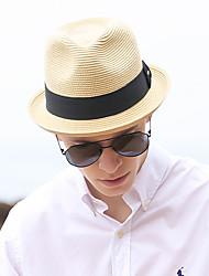 Χαμηλού Κόστους -Άχυρο Ψάθινα καπέλα με Μονόχρωμο 1 τμχ Καθημερινά Ρούχα / Κεντάκι Ντέρμπι Headpiece