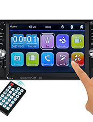 Недорогие -7651D 6.1 дюймовый 2 Din Symbian Автомобильный мультимедийный проигрыватель / Автомобильный MP5-плеер Сенсорный экран / Встроенный Bluetooth / Пульт управления для VGA Поддержка ASF / 3GP / H.264 MP3