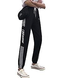 levne -Dámské sportovní Kalhoty chinos Kalhoty - Tisk Černá